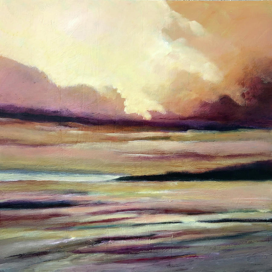 Seascape Painting - Warm Glow by Filomena Booth