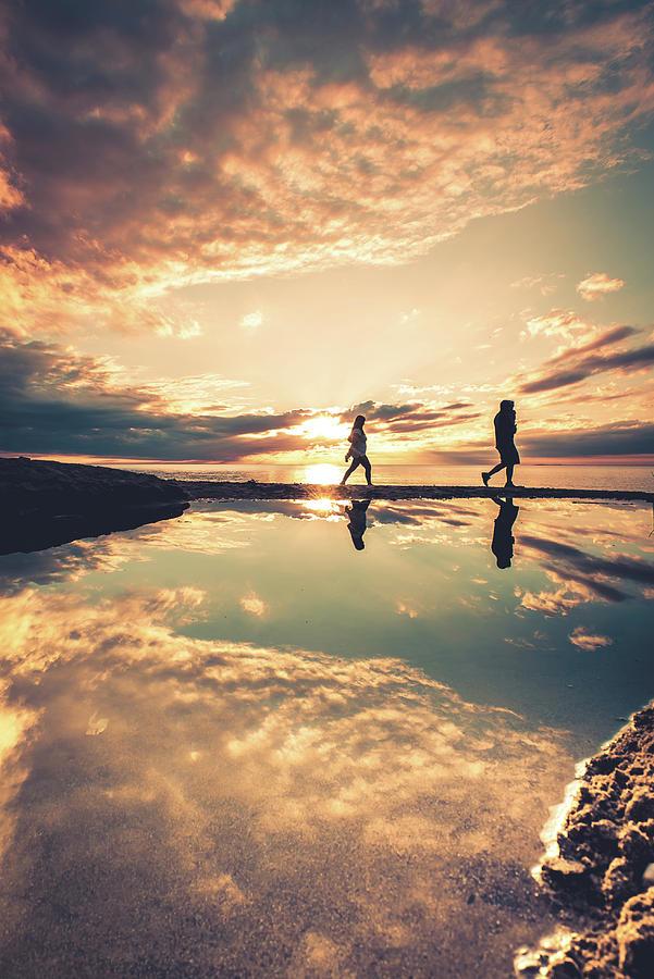 Beach Photograph - Warm Summer Walk by Dave Niedbala