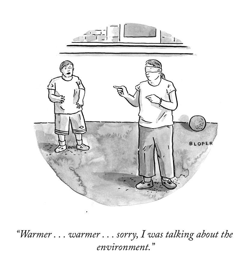 Warmer Warmer Drawing by Brendan Loper