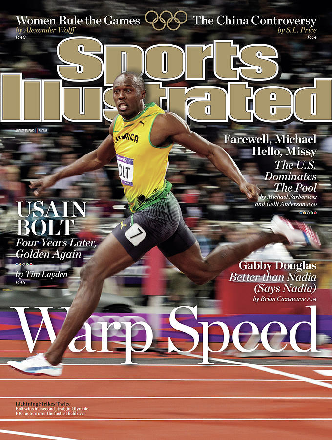 Warp Speed 2012 Summer Olympics Sports Illustrated Cover Photograph by Sports Illustrated