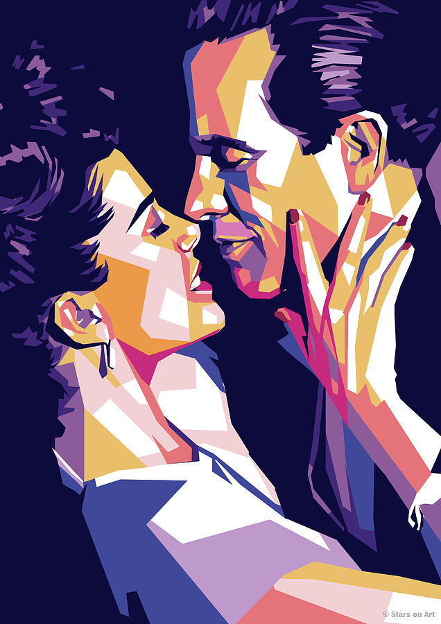 Warren Beatty And Annette Bening Digital Art
