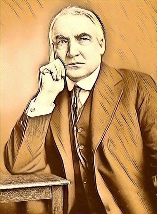 Warren G Harding Mixed Media