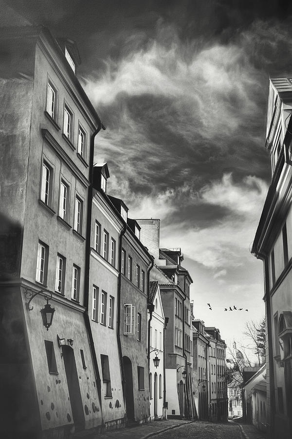 Warsaw Poland Old World Charm Black and White by Carol Japp