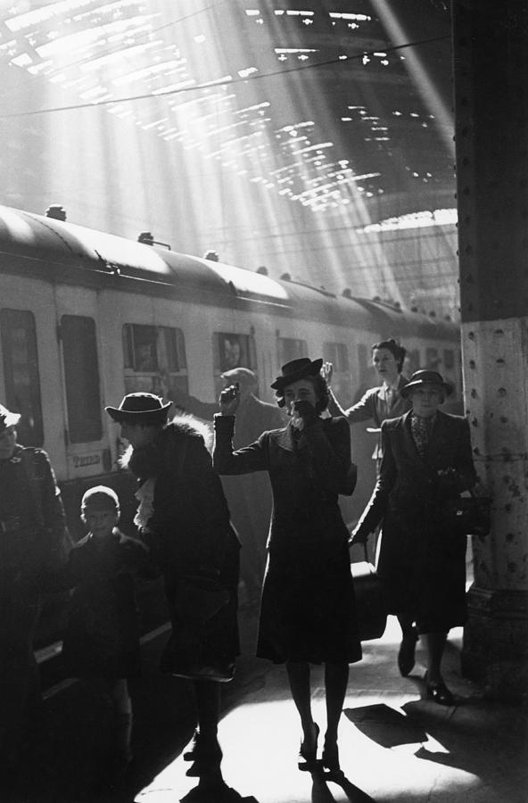 Wartime Terminus Photograph by Bert Hardy