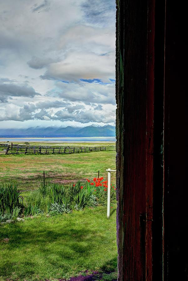 Wasatch From The Doorway by Jerry Sodorff