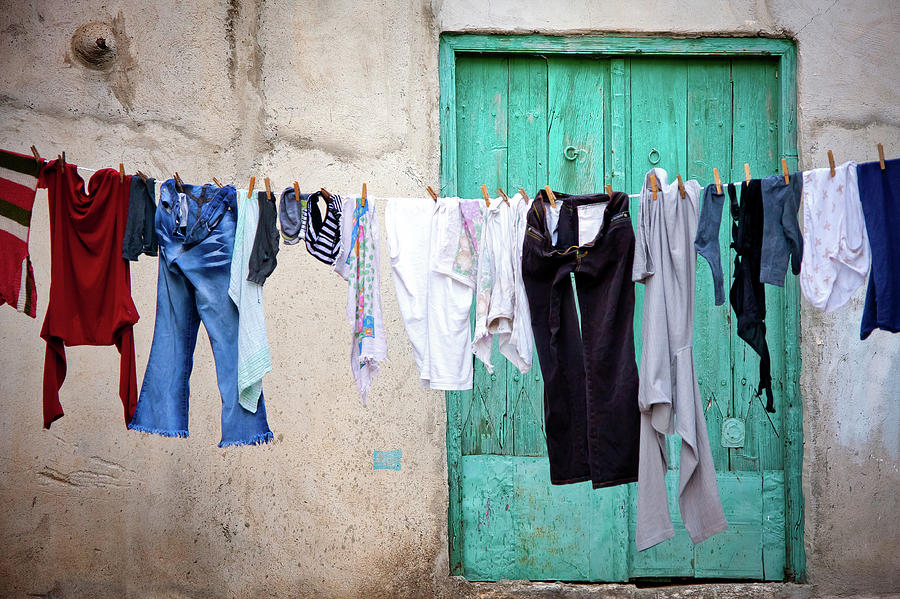 Washing On The Line Photograph by Lee Stevens