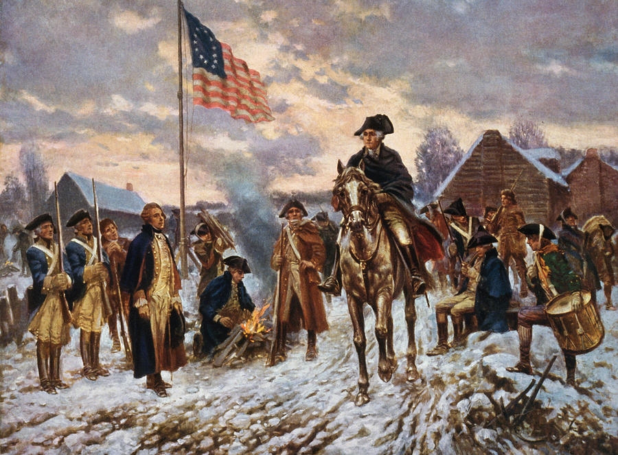 George Washington Painting - Washington At Valley Forge by War Is Hell Store
