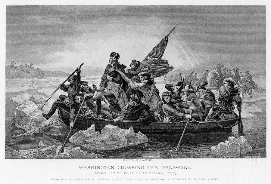 Washington Crossing The Delaware, 1776 Drawing by Print Collector