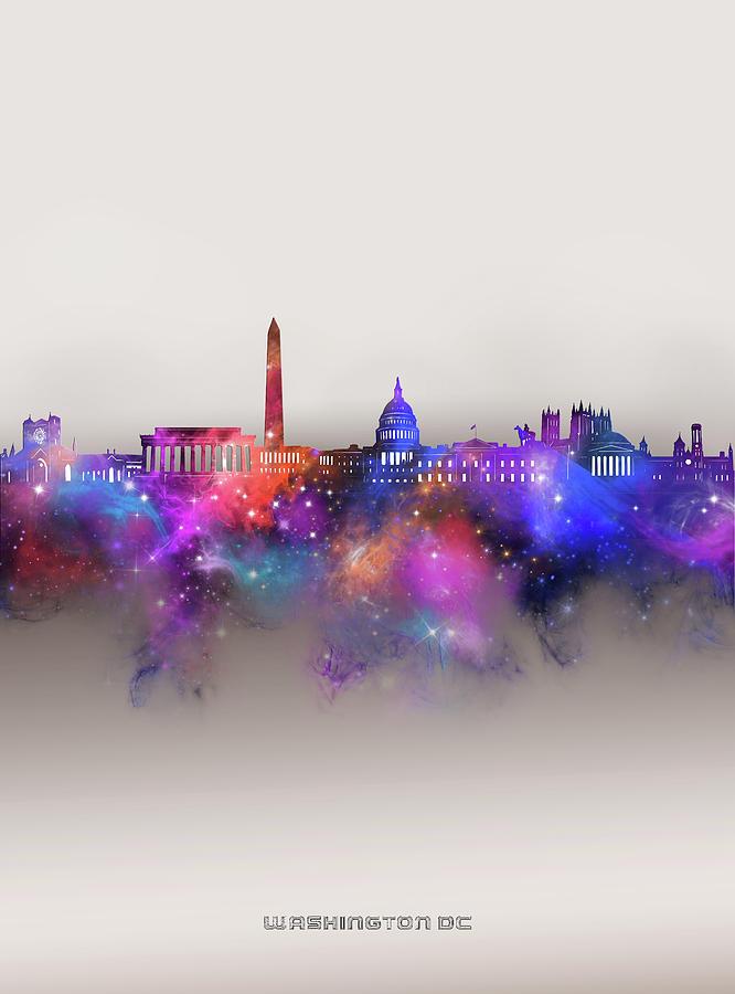 Washington Dc Skyline Galaxy Digital Art