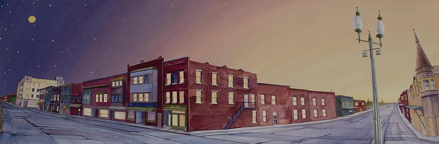 Town Painting - Washington, Iowa by Scott Kirby