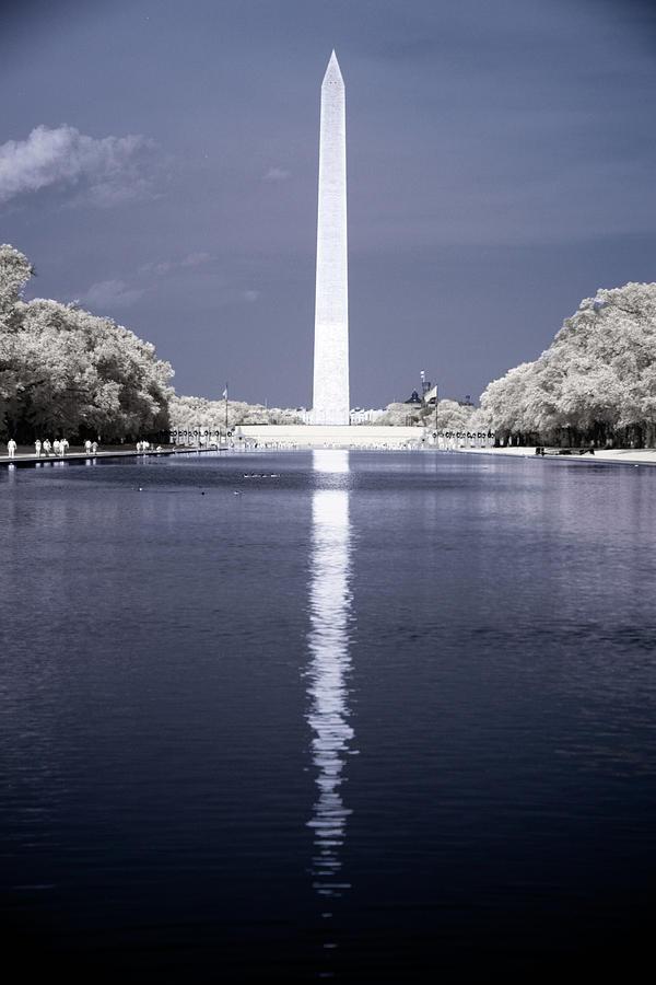 Washington Monument in Infrared 2 by Lynda Fowler