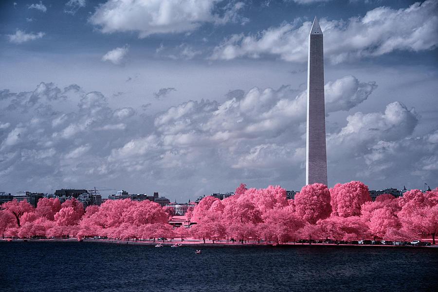 Washington Monument in Infrared by Lynda Fowler