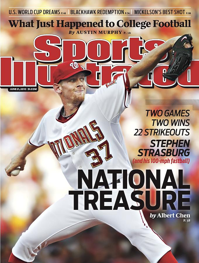 Washington Nationals Stephen Strasburg... Sports Illustrated Cover Photograph by Sports Illustrated