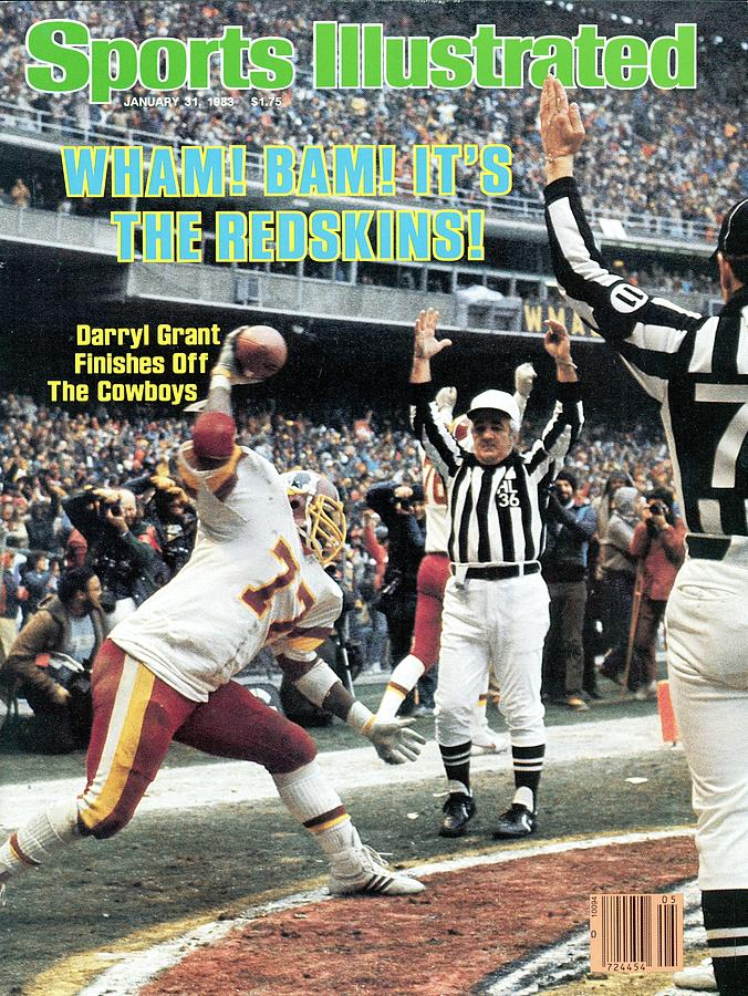 Washington Redskins Darryl Grant, 1983 Nfc Championship Sports Illustrated Cover Photograph by Sports Illustrated