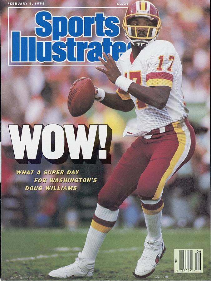 Washington Redskins Doug Williams, Super Bowl Xxii Sports Illustrated Cover Photograph by Sports Illustrated