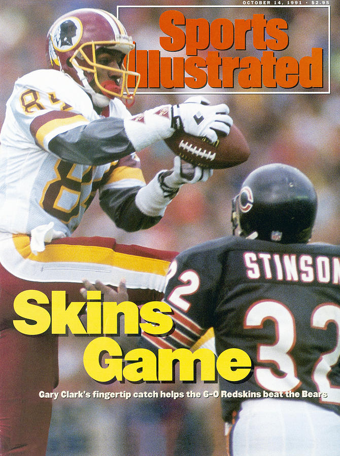 Washington Redskins Gary Clark... Sports Illustrated Cover Photograph by Sports Illustrated