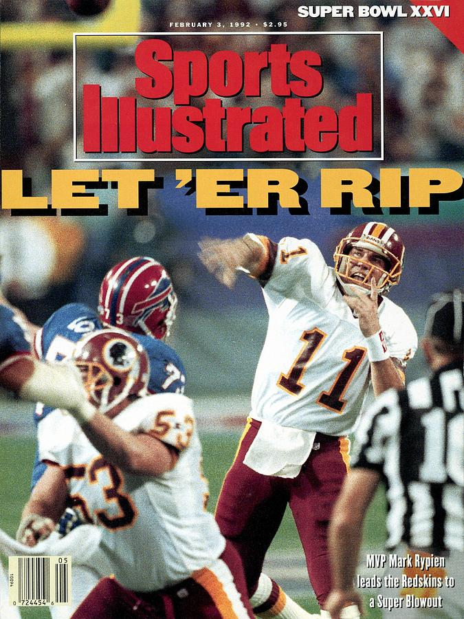 Washington Redskins Qb Mark Rypien, Super Bowl Xxvi Sports Illustrated Cover Photograph by Sports Illustrated