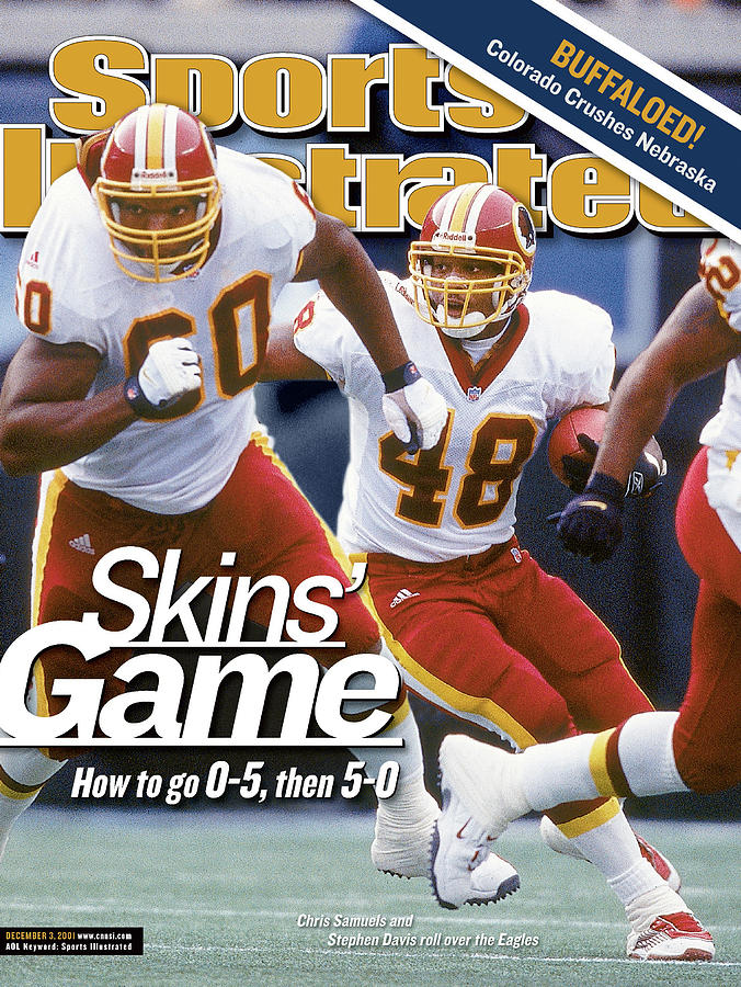 Washington Redskins Stephen Davis... Sports Illustrated Cover Photograph by Sports Illustrated