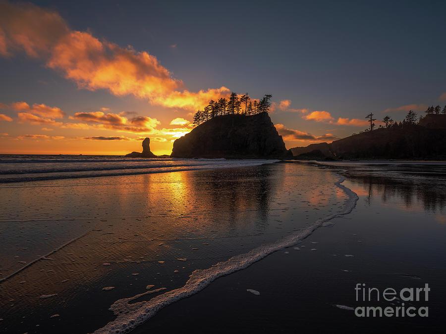 Washington State Photography Second Beach Sunset Tideflats Photograph
