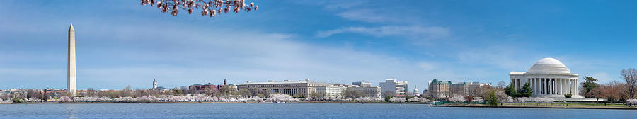 Washington Tidal Basin Panorama With Photograph by Drnadig