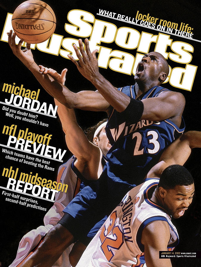 Washington Wizards Michael Jordan... Sports Illustrated Cover Photograph by Sports Illustrated