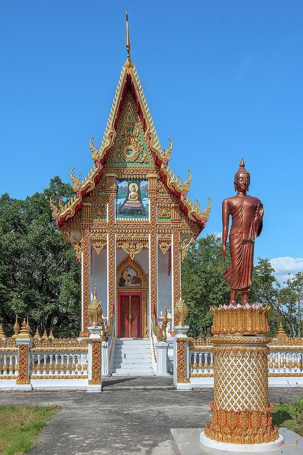 Wat Amphawan Phra Ubosot and Standing Buddha Image DTHU0909 by Gerry Gantt