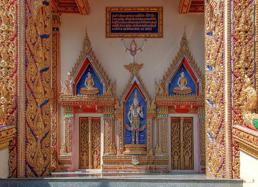 Wat Kanthararom Phra Ubosot Entrance DTHSSK0044 by Gerry Gantt