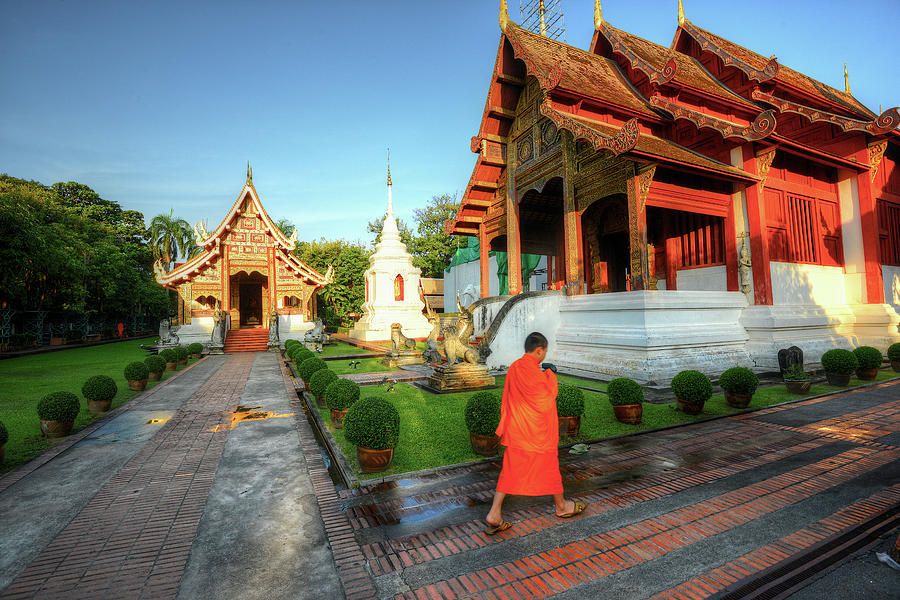 Wat Phra Singh, Chiang Mai Photograph by Ashit Desai