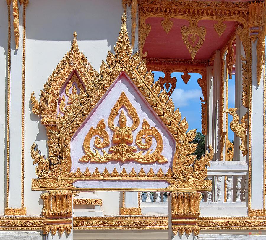 Wat Thammarangsee Phra Ubosot Wall Gate DTHU1012 by Gerry Gantt