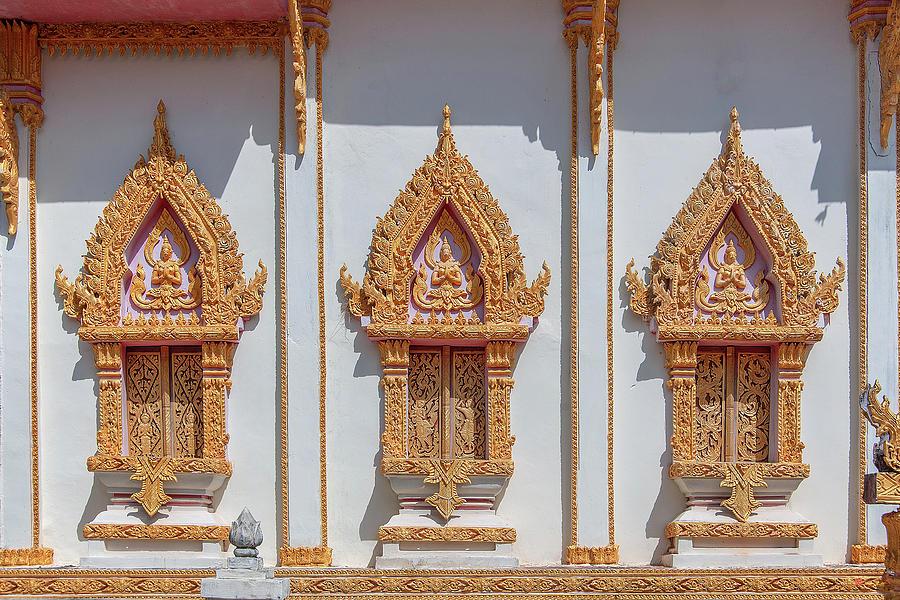 Wat Thammarangsee Phra Ubosot Windows DTHU1014 by Gerry Gantt