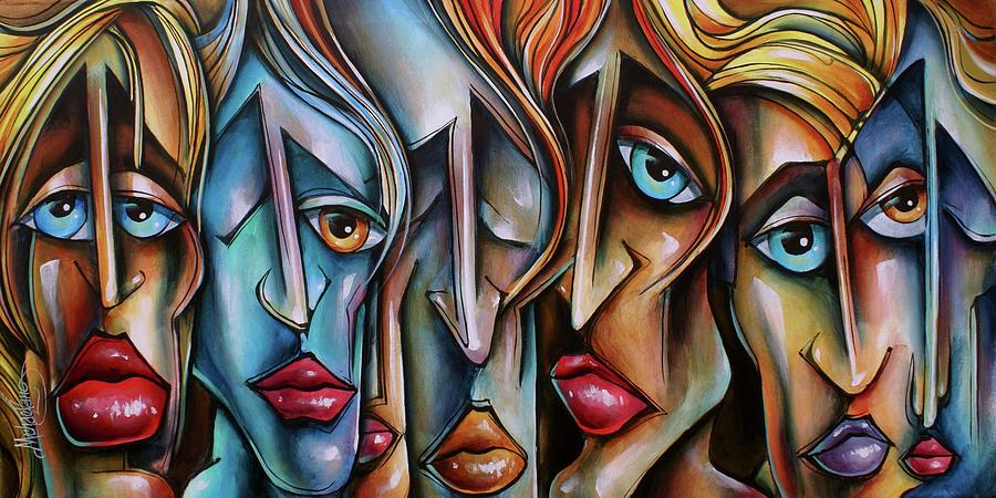 Urban Expression Painting -  Watch Closely by Michael Lang