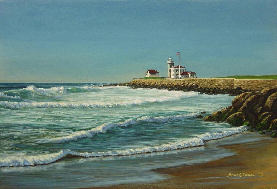 Watch Hill Light by Bruce Dumas