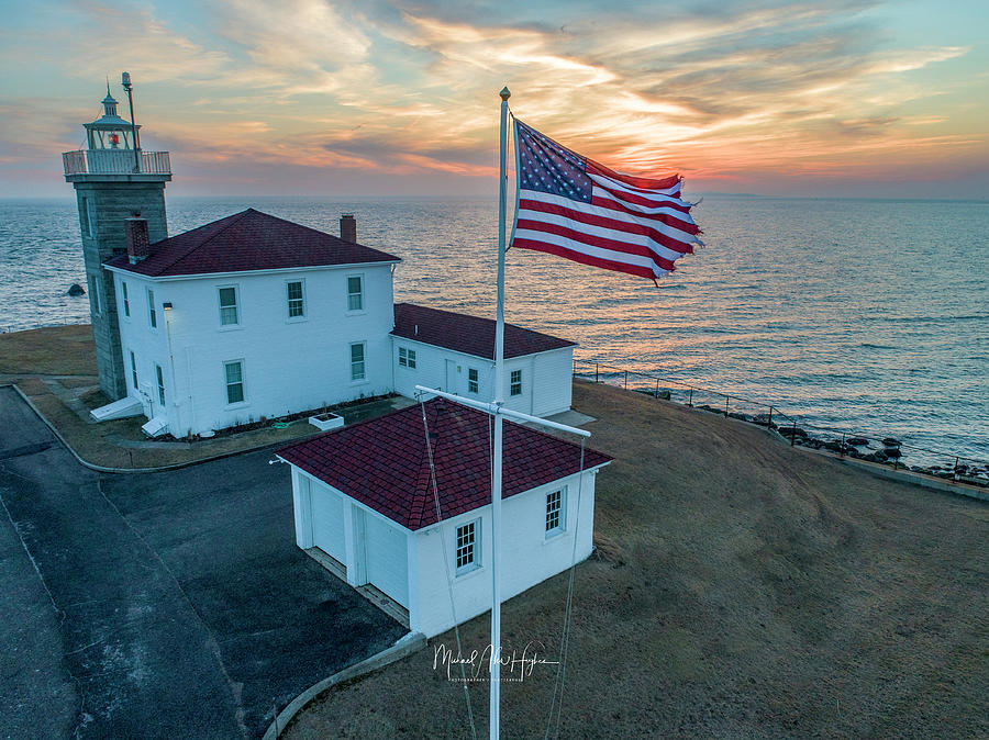Watch Hill Lighthouse  by Michael Hughes