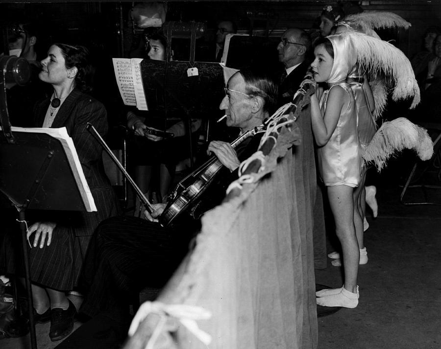 Watching A Rehearsal Photograph by Reg Speller