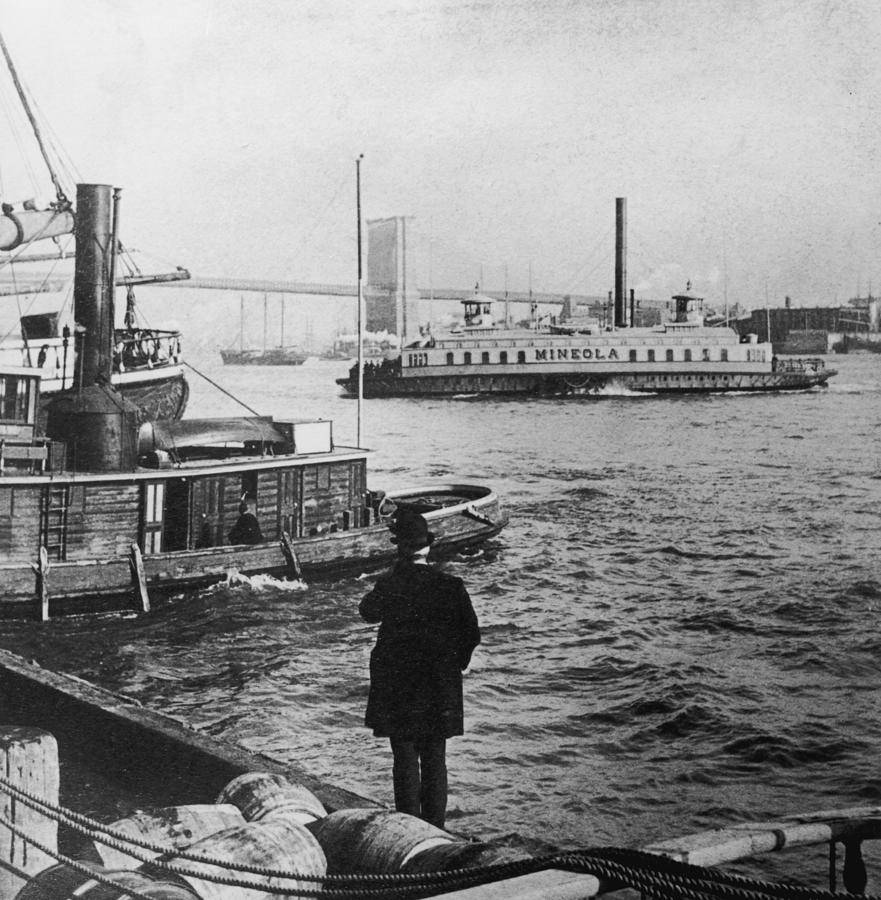 Watching Boats Photograph by Hulton Archive