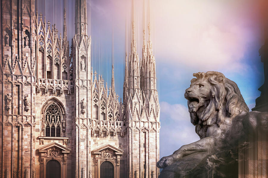 Watching Over The Duomo Milan Italy Photograph