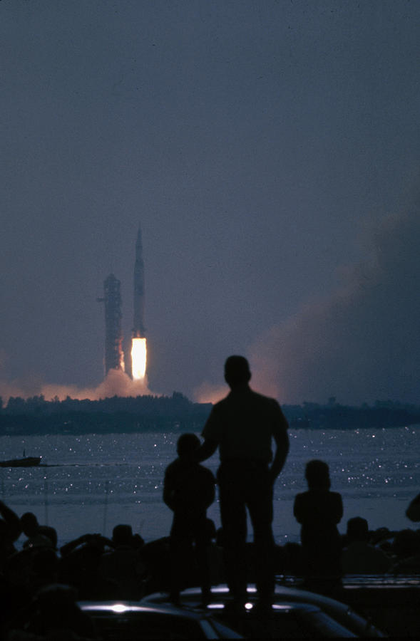 Watching The Apollo 11 Launch Photograph by Ralph Crane
