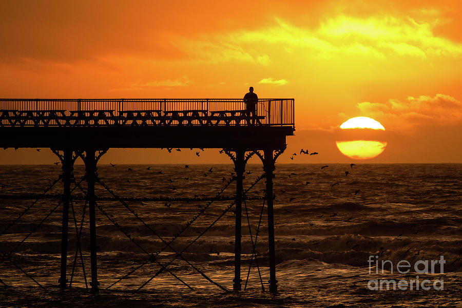 Aberystwyth Photograph - Watching The Sunset From Aberystwyth Pier by Keith Morris