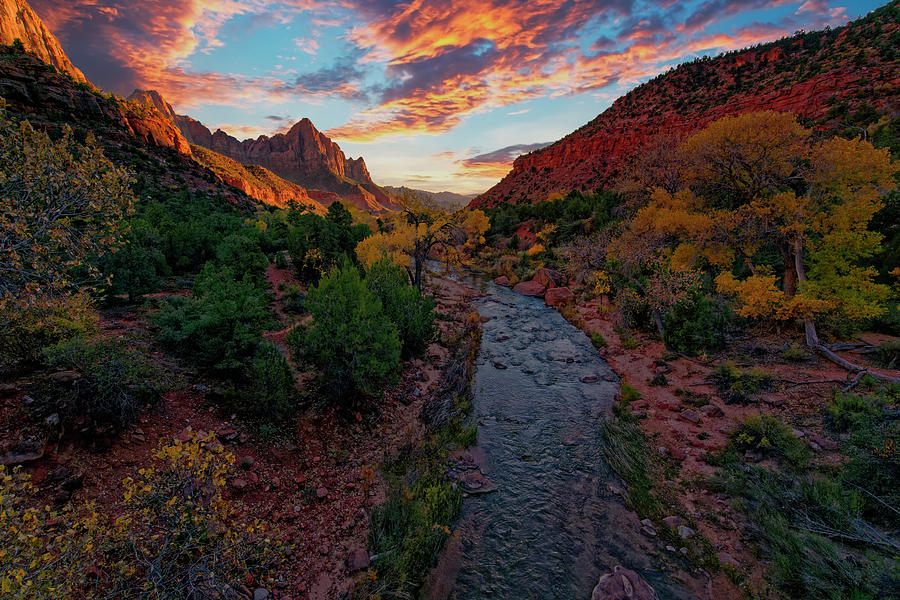 Watchman Sunset Photograph