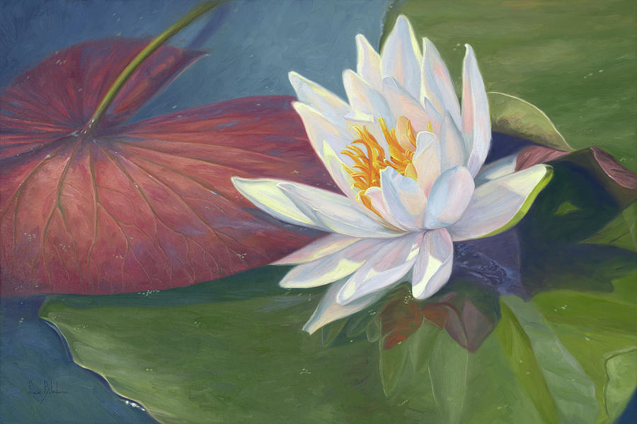 Waterlily Painting - Water Beauty by Lucie Bilodeau