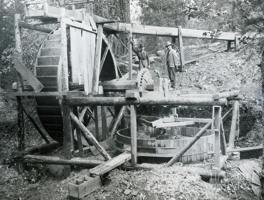Water-driven Device For Crushing Gold Photograph by Bettmann