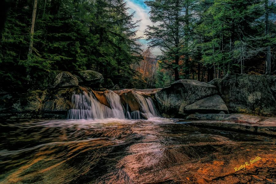 Water Fall Grafton Notch State Park,Western Maine. by Rusty R Smith