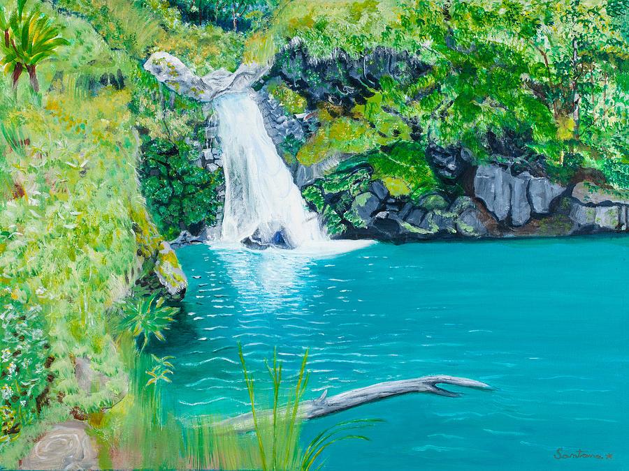 Water Fall Pool 18x24 by Santana Star