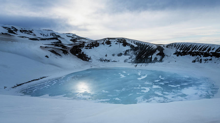 Water Filled Crater Myvatn Iceland by Joan Carroll
