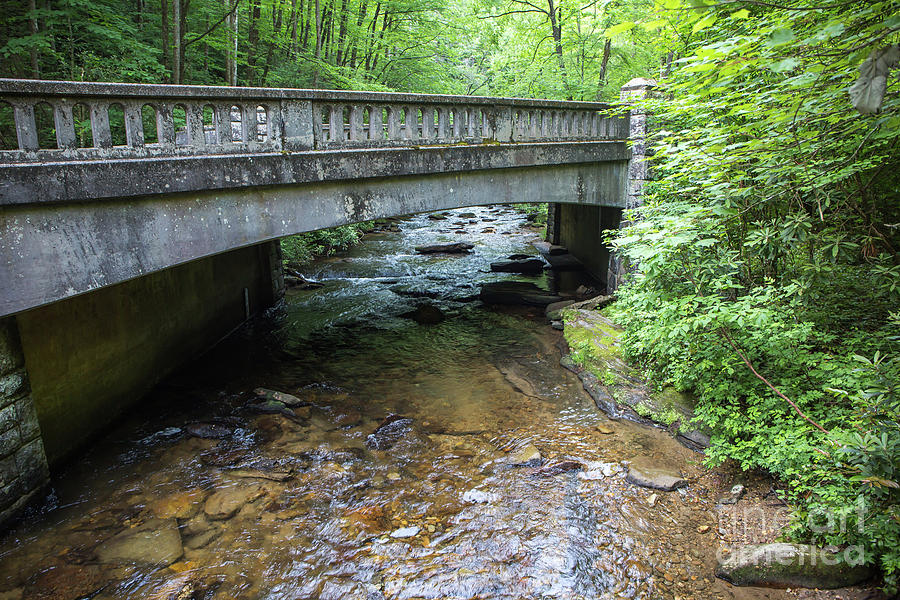 Water Flowing Beneath a Rustic Bridge by Kevin McCarthy
