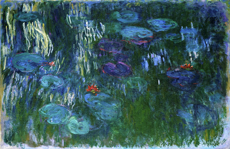 Claude Monet Painting - Water Lilies 1918 - Digital Remastered Edition by Claude Monet