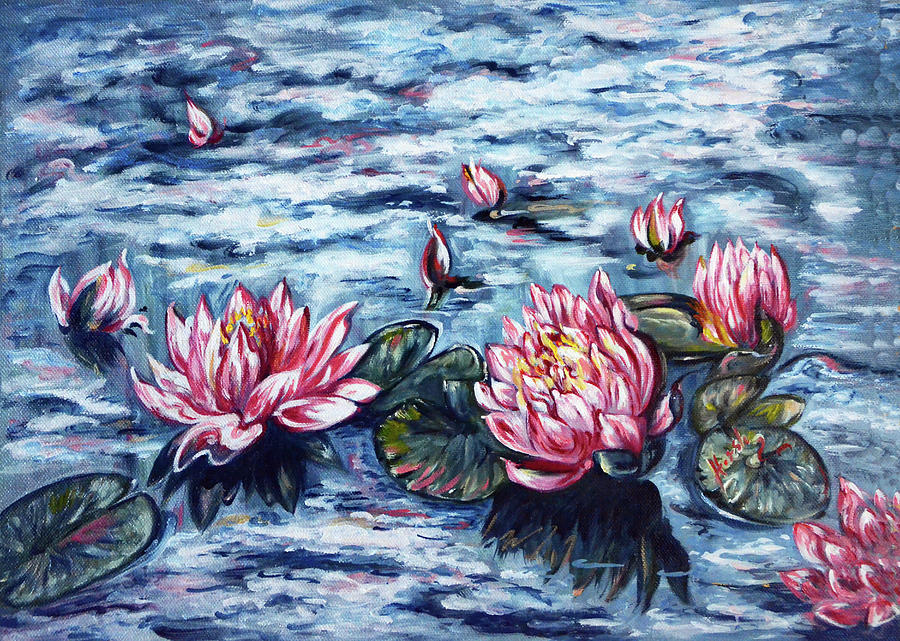 Water Lilies - floating in the clouds by Harsh Malik