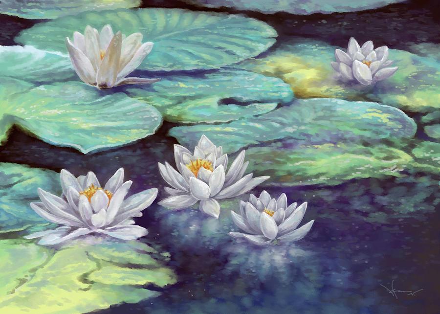 Water Lilies by Hans Neuhart