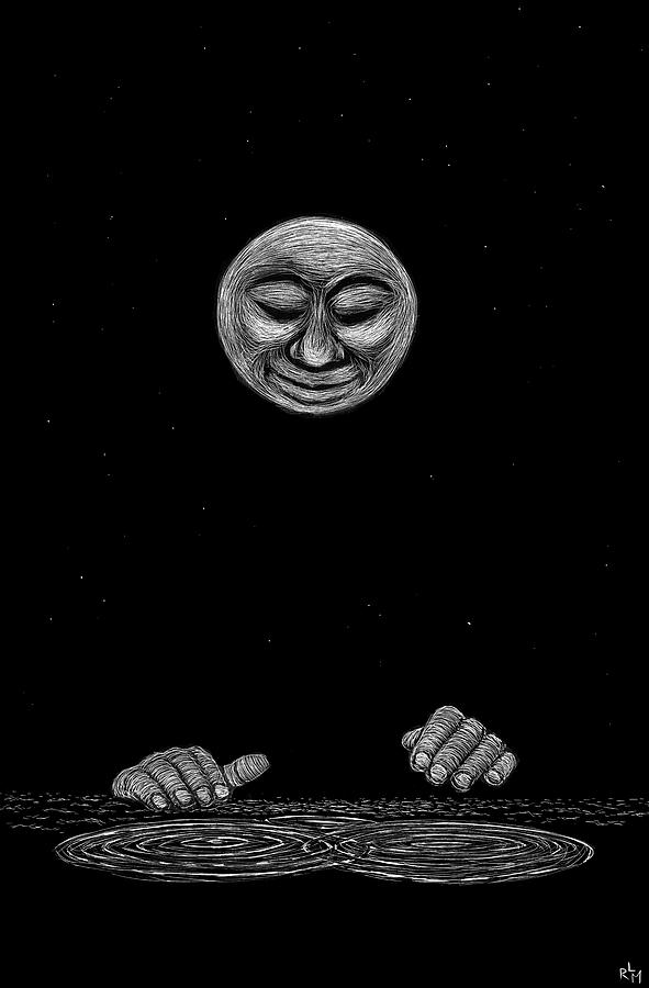 Moon Mixed Media - Water Music by Ricardo Levins Morales