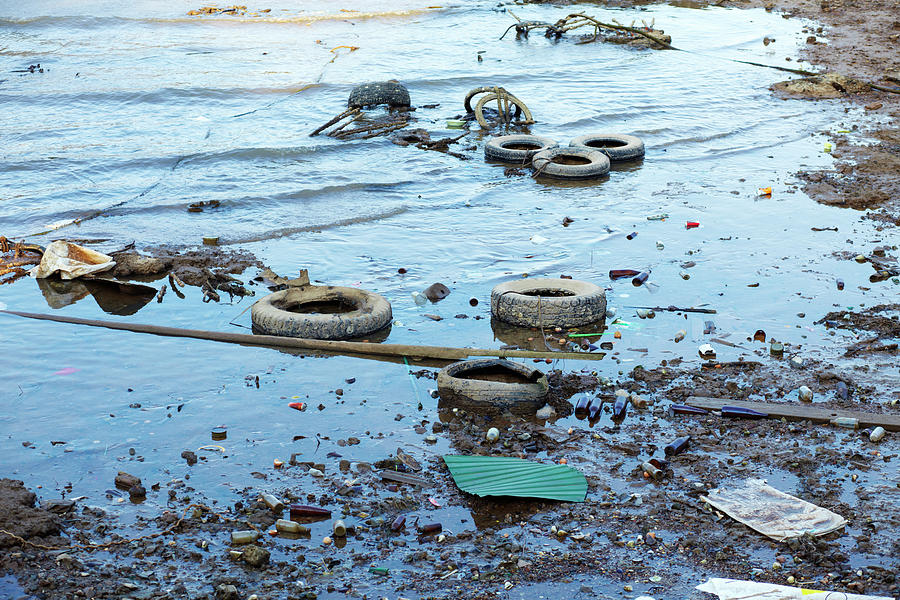Water Pollution Photograph by Drbouz